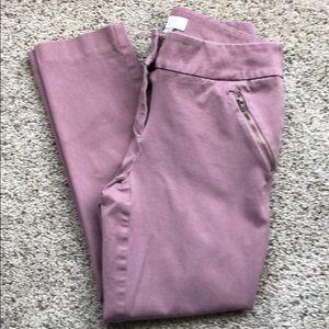 Loft Curvy Skinny Ankle Pants - Pink